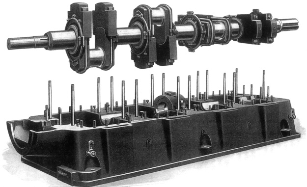 Fairbanks-Morse 32E crankshaft
