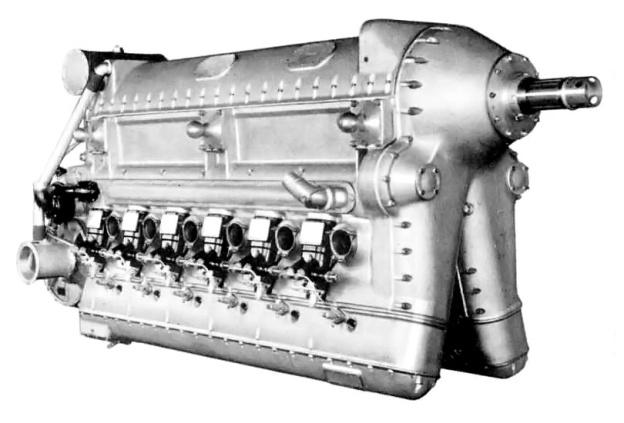 Deschamps V 3050 inverted V-12 aircraft diesel engine of 1934.