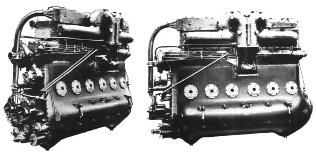 The 4207 cu in (68.9 L), straight-six Beardmore Cyclone.