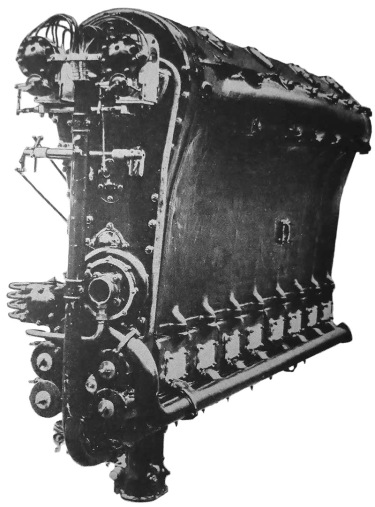 The 1,100 hp (820 kW), 5528 cu in (90.6 L),  inverted, straight-eight, Beardmore Simoon aircraft engine.