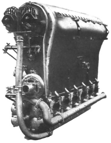 The Beardmore Typhoon inverted engine.