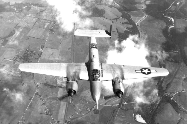 Beech XA-38 Grizzly above