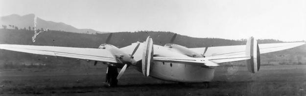 Piaggio P.23M rear