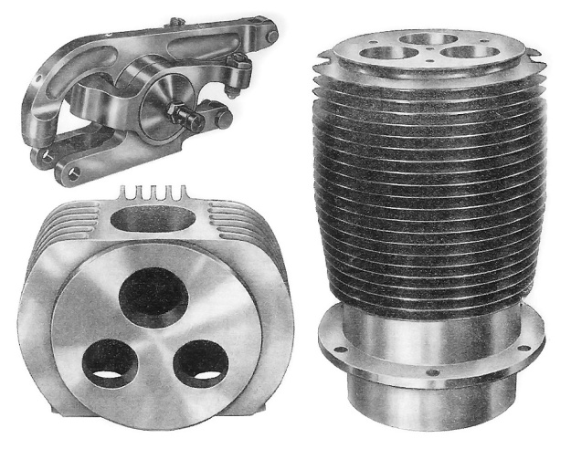 Moore three cylinder head rocker