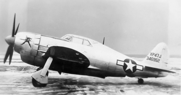 Republic XP-47J left