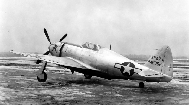 Republic XP-47J rear