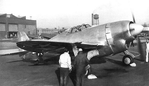 Republic XP-47J run-up