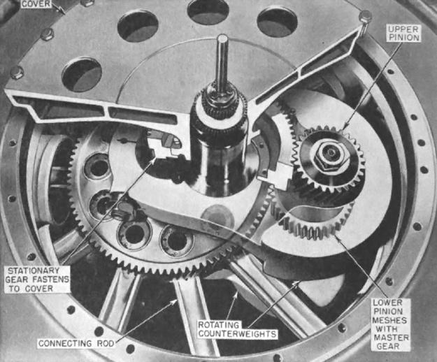 Nordberg 11-cylinder radial crankshaft