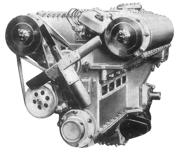 Michel 12-cylinder opposed piston engine