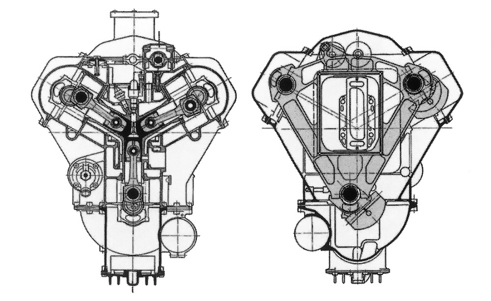 Michel 3 Cylinder Section