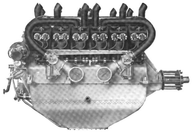 Lancia V-12 aircraft engine side
