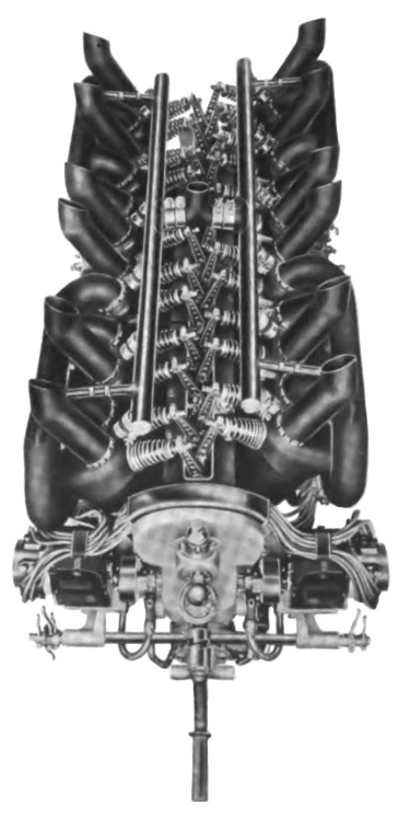 Lancia V-12 aircraft engine top