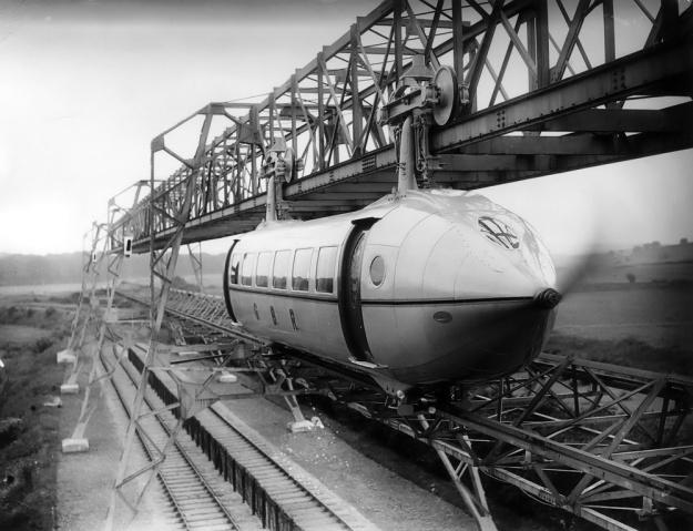 Bennie Railplane test