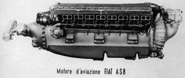 FIAT AS8 V-16 side