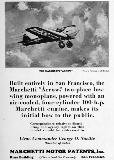 Marchetti MP M-II Arrow advert