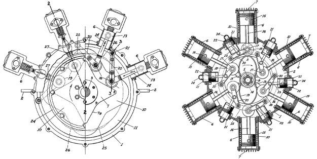 Nordwick Marchetti cam engine patents