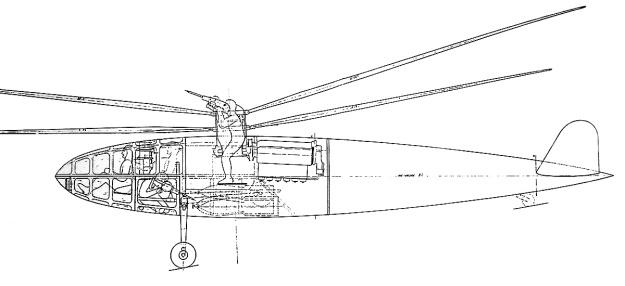 Dorand Gyroplane G20 org drawing