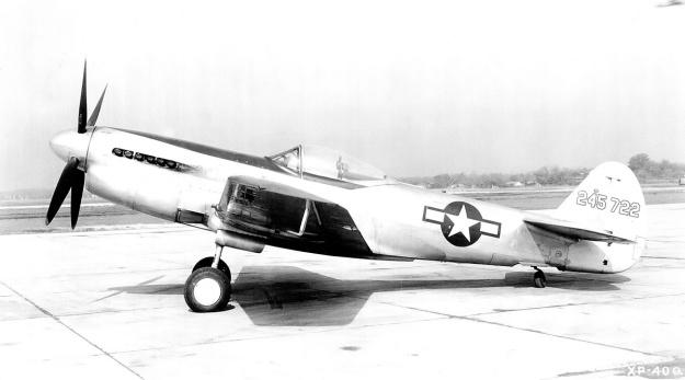 Curtiss XP-40Q-2A side