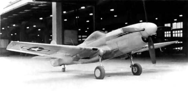 Curtiss XP-40Q-3 front