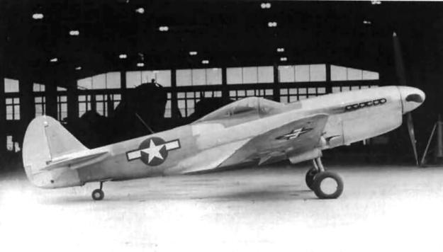 Curtiss XP-40Q-3 side