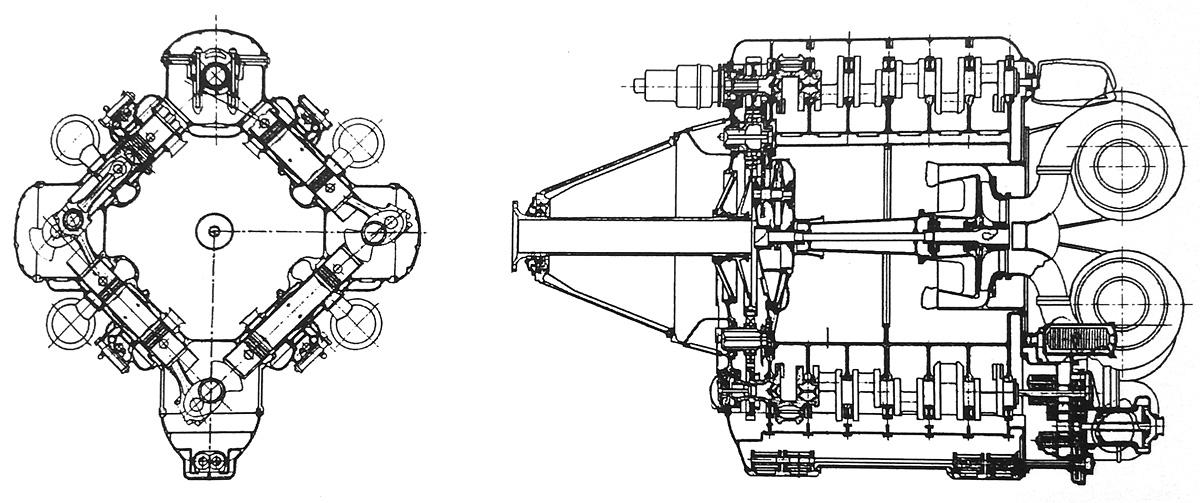 radial airplane engine diagram