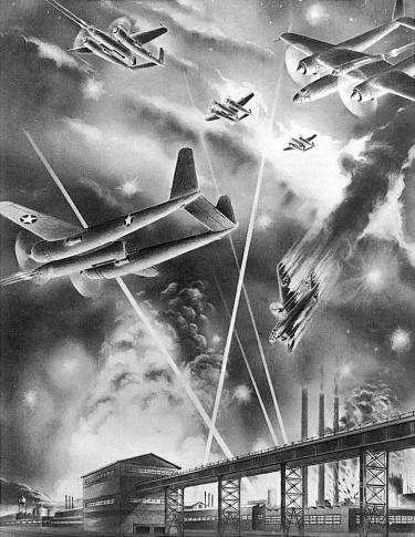 Hughes D-2 combat drawing
