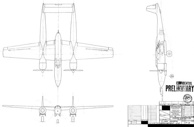 Hughes D-5 Drawing 17Jun43