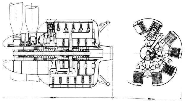 Kamm 60-cylinder compound-diesel
