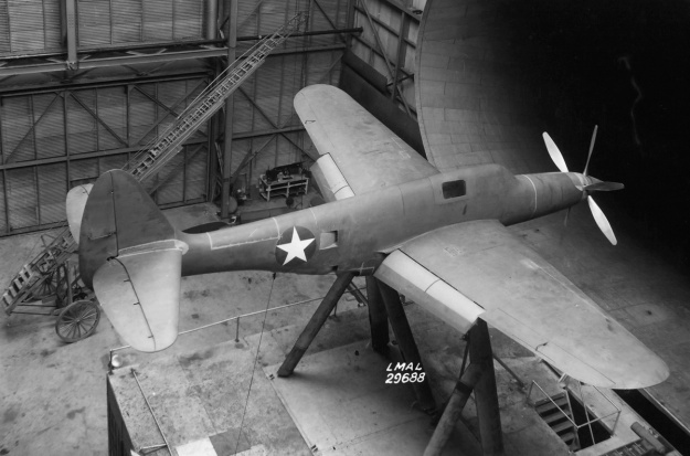 Republic XP-69 flaps