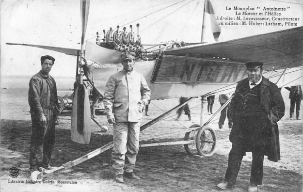 Antoinette IV 50hp V-8 Latham Levavasseur Camp Chalons 5 June 1909