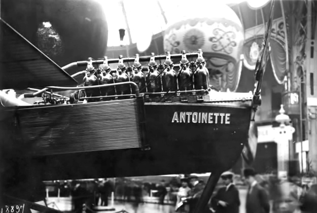 Antoinette VII with 100hp V-16 engine paris 1909