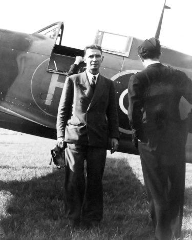 Martin-Baker MB3 with Captain V H Baker