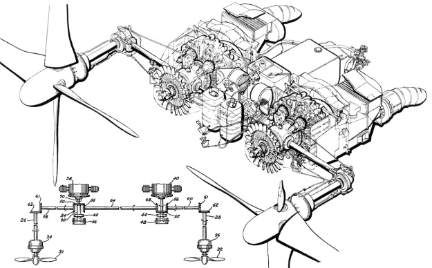 vought-xf5u-powerplant