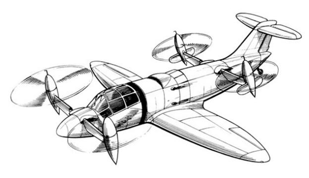CTA - ITA Heliconair Convertiplano drawing