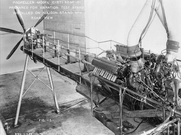 Douglas XB-42 Allison engine test