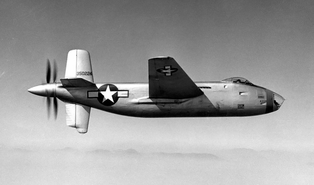 Douglas XB-42 no1 in flight