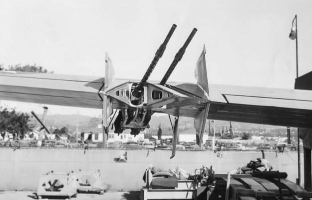 Douglas XB-42 wing guns