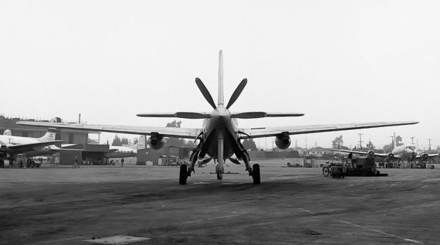 Douglas XB-42A rear