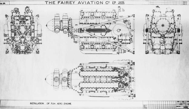 Fairey P24 Monarch installation drawing