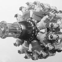 Bristol Hydra 16-Cylinder Radial Aircraft Engine