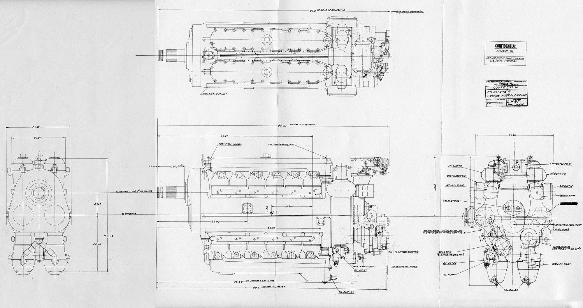 Aircraft Engines Old Machine Press Page 2 Charging Circuit Diagram For The 1947 Studebaker All Models Lycoming Xh 2470 Drawing