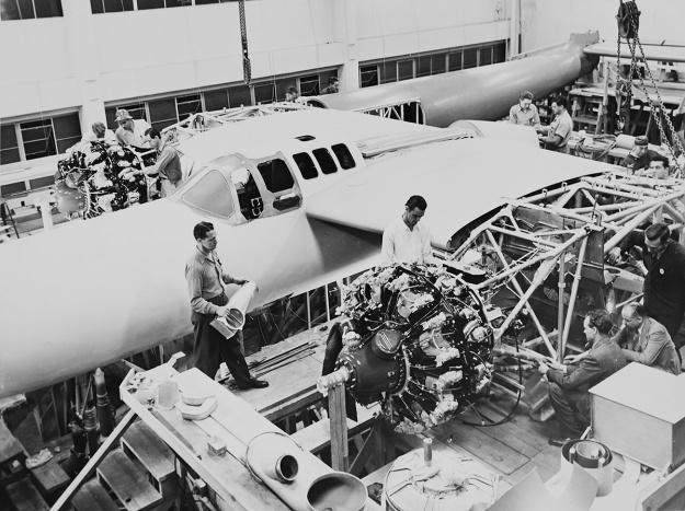Hughes D-2 construction b