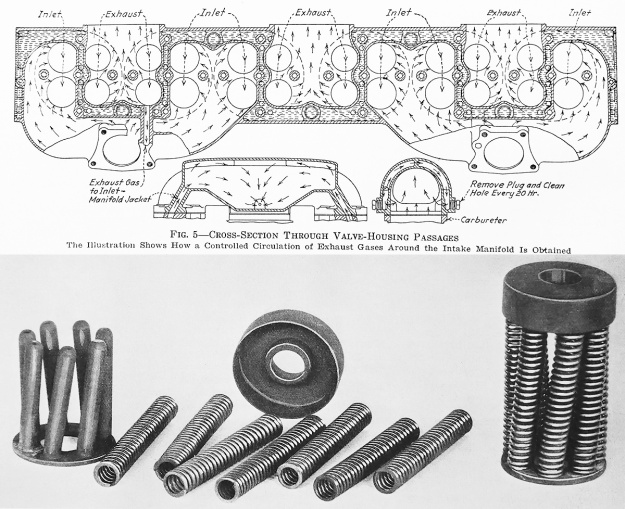 Packard X-2775 manifold and valve spring