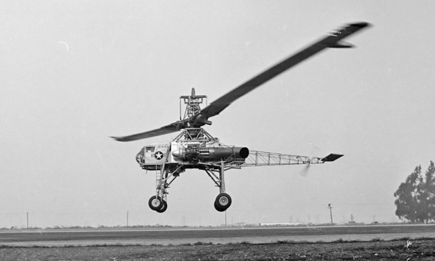 Hughes XH-17 hover side
