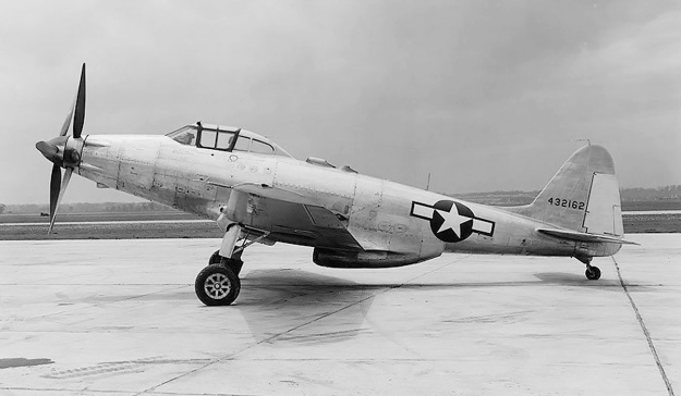 Fisher XP-75A long-range side