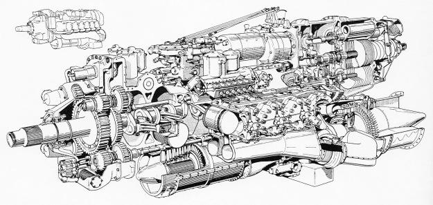 Napier Nomad II cutaway