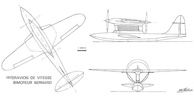 Bernard - Farman 18T Schneider 3-view