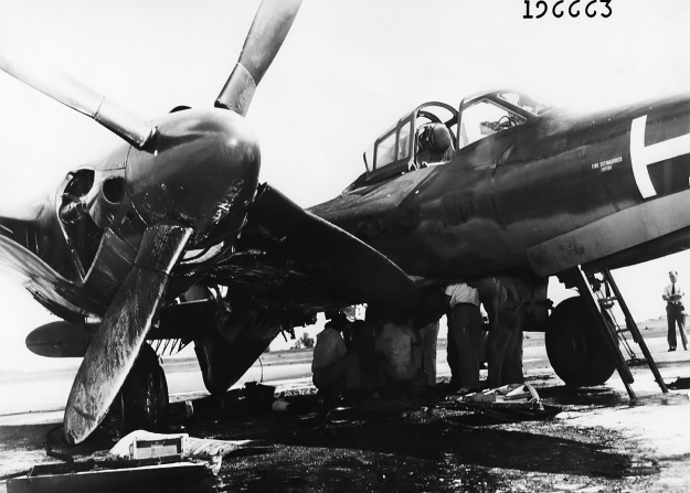 McDonnell-XP-67-fire-front
