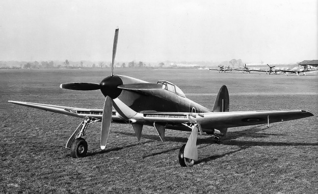 Hawker-Tempest-I-front-side