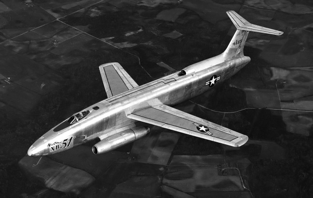 Martin-XB-51-flight-top
